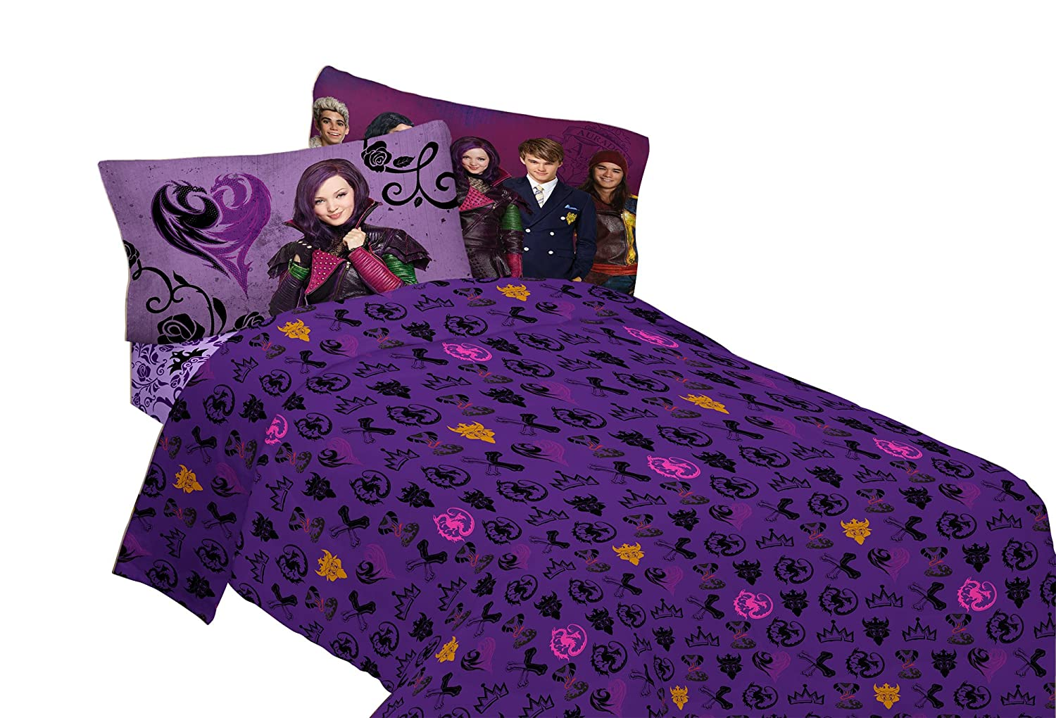 Disney Descendants Best of Both World's Twin Sheet Set Franco Manufacturing MA5798