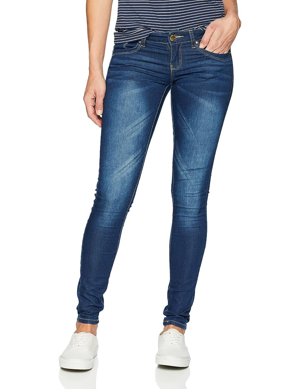 c9309398e54 V.I.P. JEANS Womens Low Waist Butt Lifter Skinny Dark Blue Wash at ...
