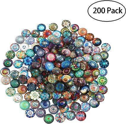 Mixed 12mm Glass Tiles Mosaic Art Craft Supplies