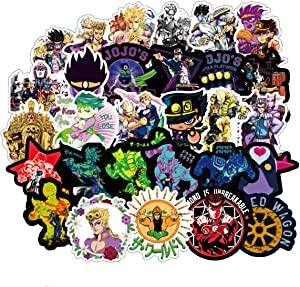 JoJo's Bizarre Adventure Anime Cartoon Laptop Stickers Waterproof Skateboard Car Snowboard Bicycle Luggage Decal 50pcs (JoJo's Bizarre Adventure)