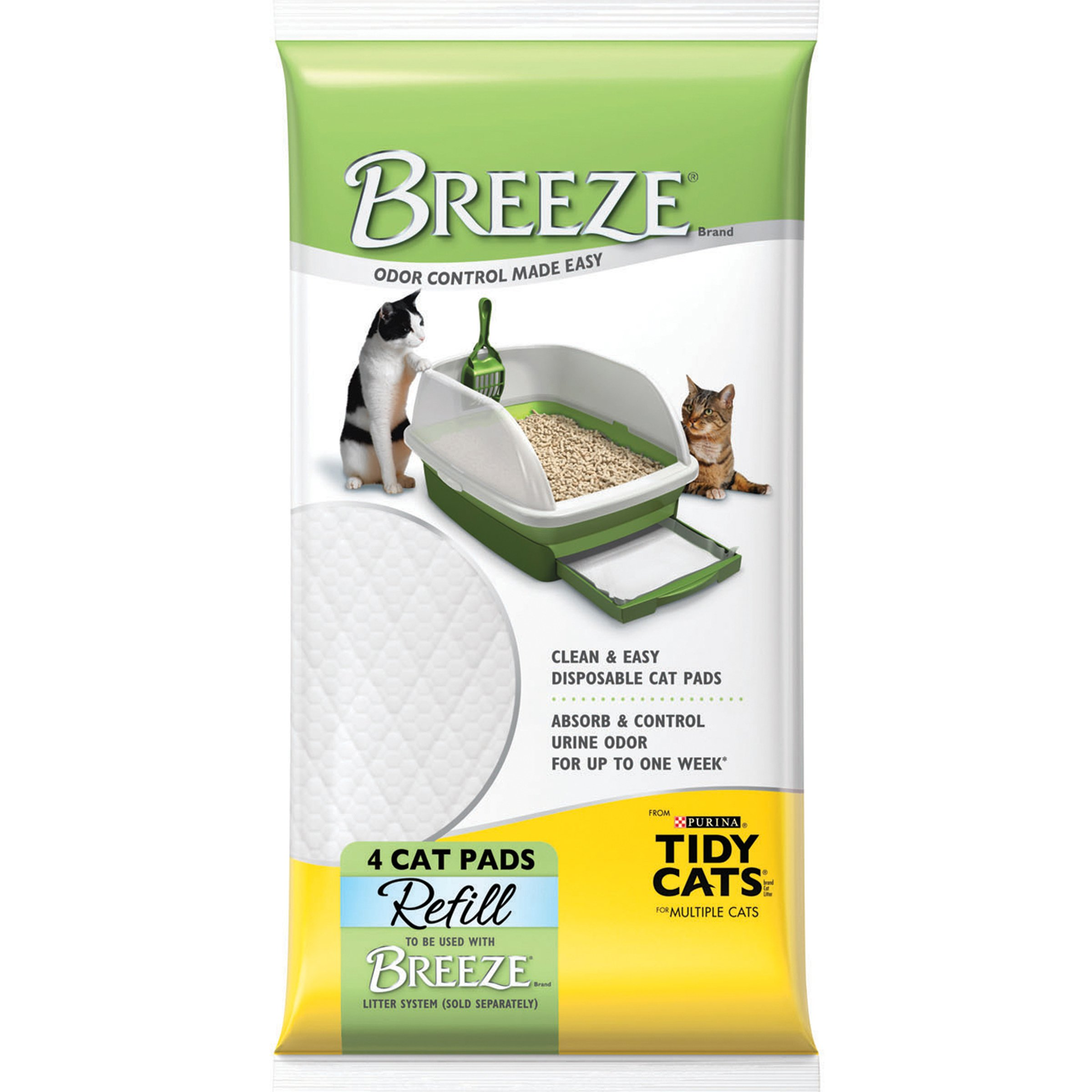 Purina Tidy Cats Breeze Litter System Unscented Cat Pad Refills