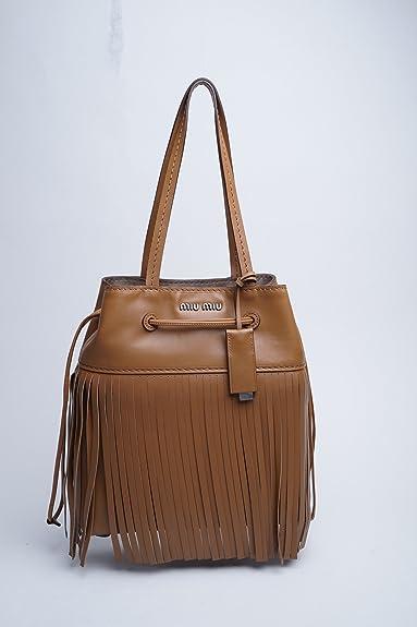 Shoulder Bags Miu Miu Women Leather Cinnamon RR1965CANNELLA Brown 9x27x29  cmUK  Amazon.co.uk  Shoes   Bags 65db2c689fdb2