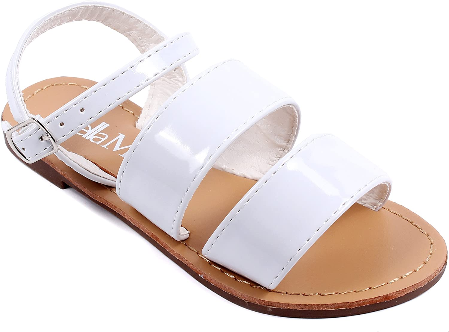 Other Fashion New Strappy Buckle Kids Girls Sandals Flats Youth Casual Shoes New Without Box
