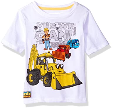 amazon com bob the builder toddler boys graphic t shirt clothing