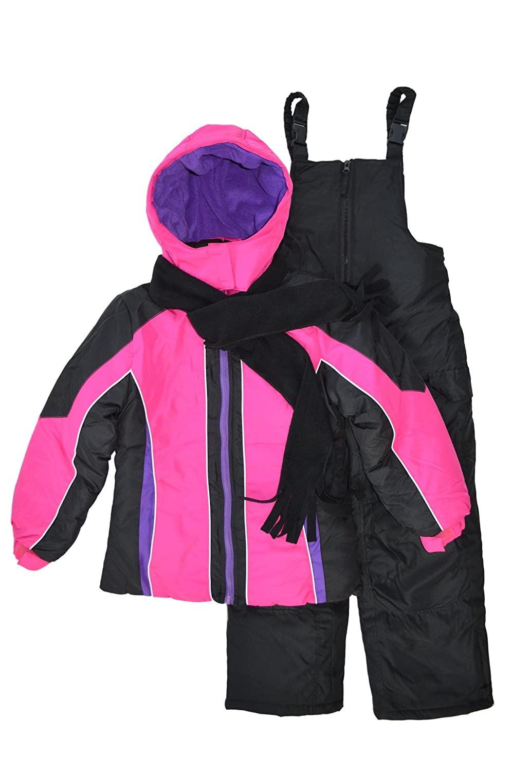 Snowsuits for Kids Girl's 3-Piece Fleece Lined Active Snowsuit