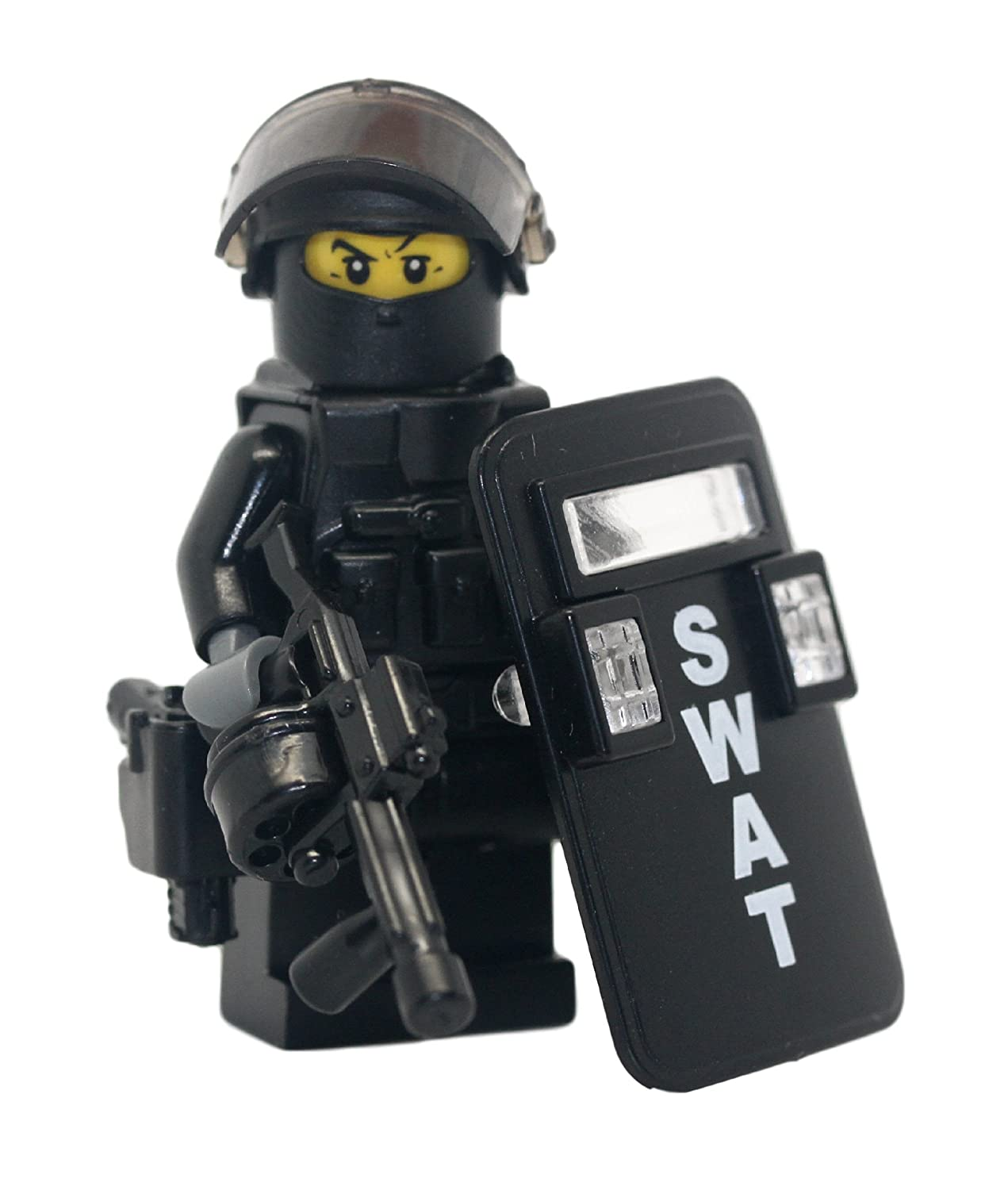 Amazon.com: SWAT Police Riot Control Officer - Modern Brick Warfare ...