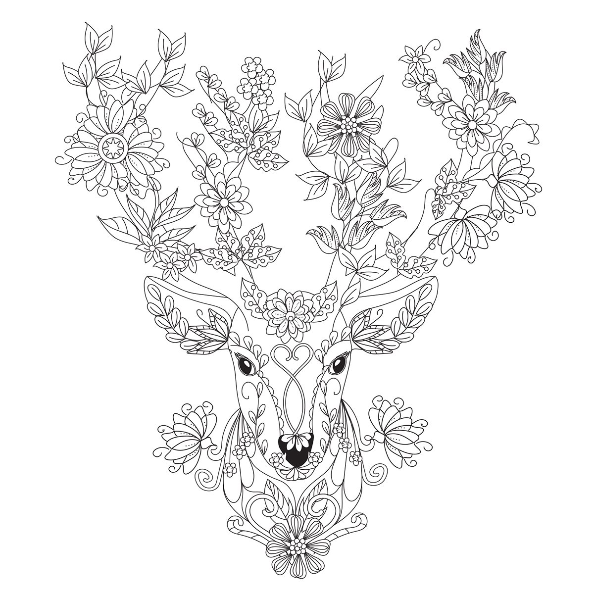 Kaisercraft Flora Deer KaiserColour Gift Card with Envelope, 6 x 6 6 x 6 CL1024