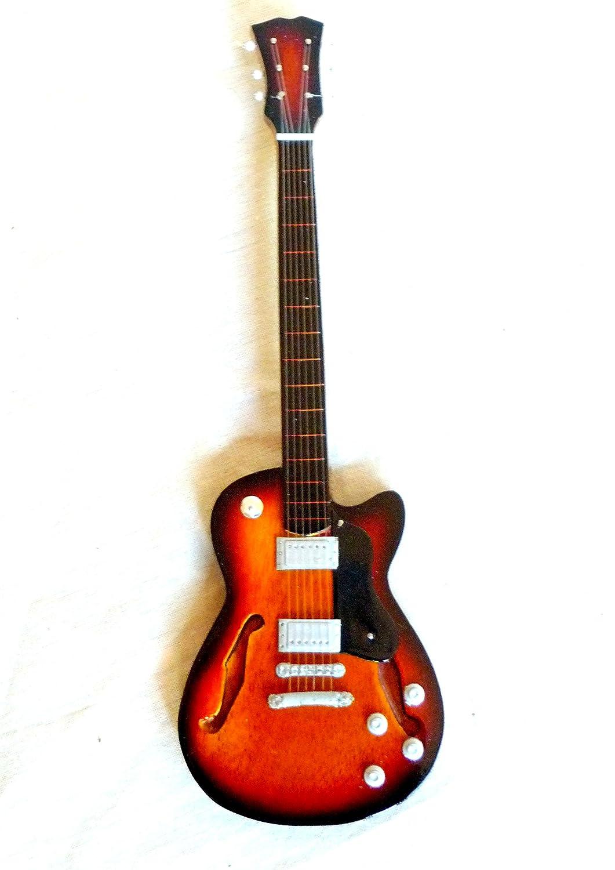 Guitarra en miniatura decorativa Guitarra Guitar Gibson turquesa 24 cm mano de madera # 135: Amazon.es: Instrumentos musicales
