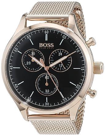 164bf3d04 Hugo Boss 1513548 Men's Quartz Watch, Analog Display and Stainless Steel  Strap, Black