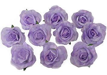 Amazon 10 lavender rose heads silk flower weddingreception amazon 10 lavender rose heads silk flower weddingreception table decorations bulk silk flowers home kitchen mightylinksfo