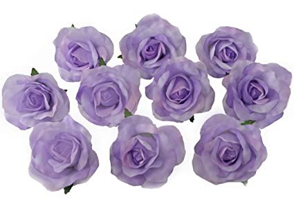 Amazon 10 lavender rose heads silk flower weddingreception 10 lavender rose heads silk flower weddingreception table decorations bulk silk flowers mightylinksfo