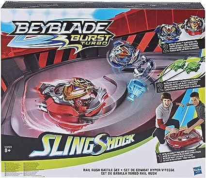 Complete Set with Burst BEYBLADE Burst Turbo Slingshock Rail Rush Battle Set