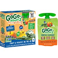 GoGo squeez fruit & veggieZ, Apple Blueberry Spinach, 3.2 Ounce (48 Pouches), Gluten Free, Vegan Friendly, Unsweetened, Recloseable, BPA Free Pouches
