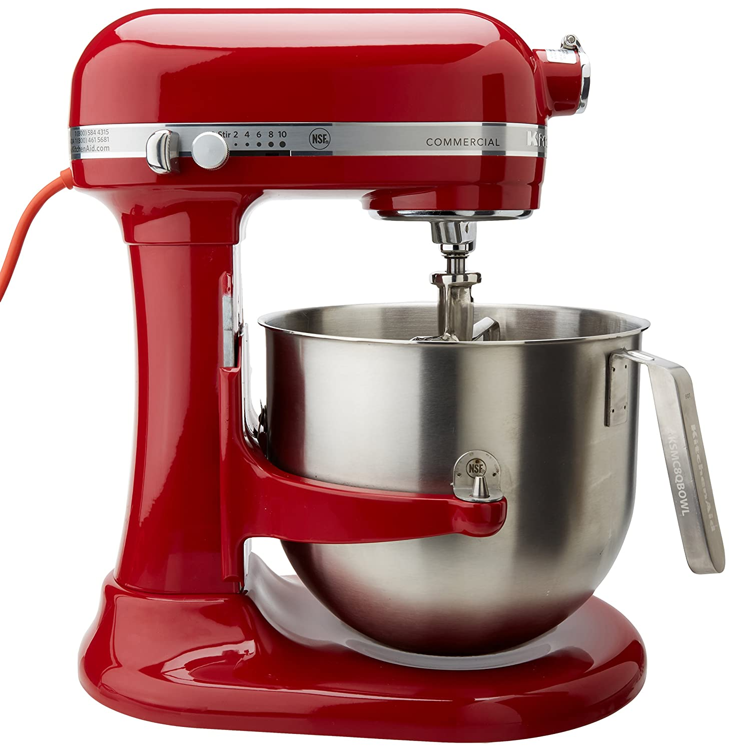 Amazon.com: KitchenAid (KSMC895ER) 8-Quart Stand Mixer with Bowl ...