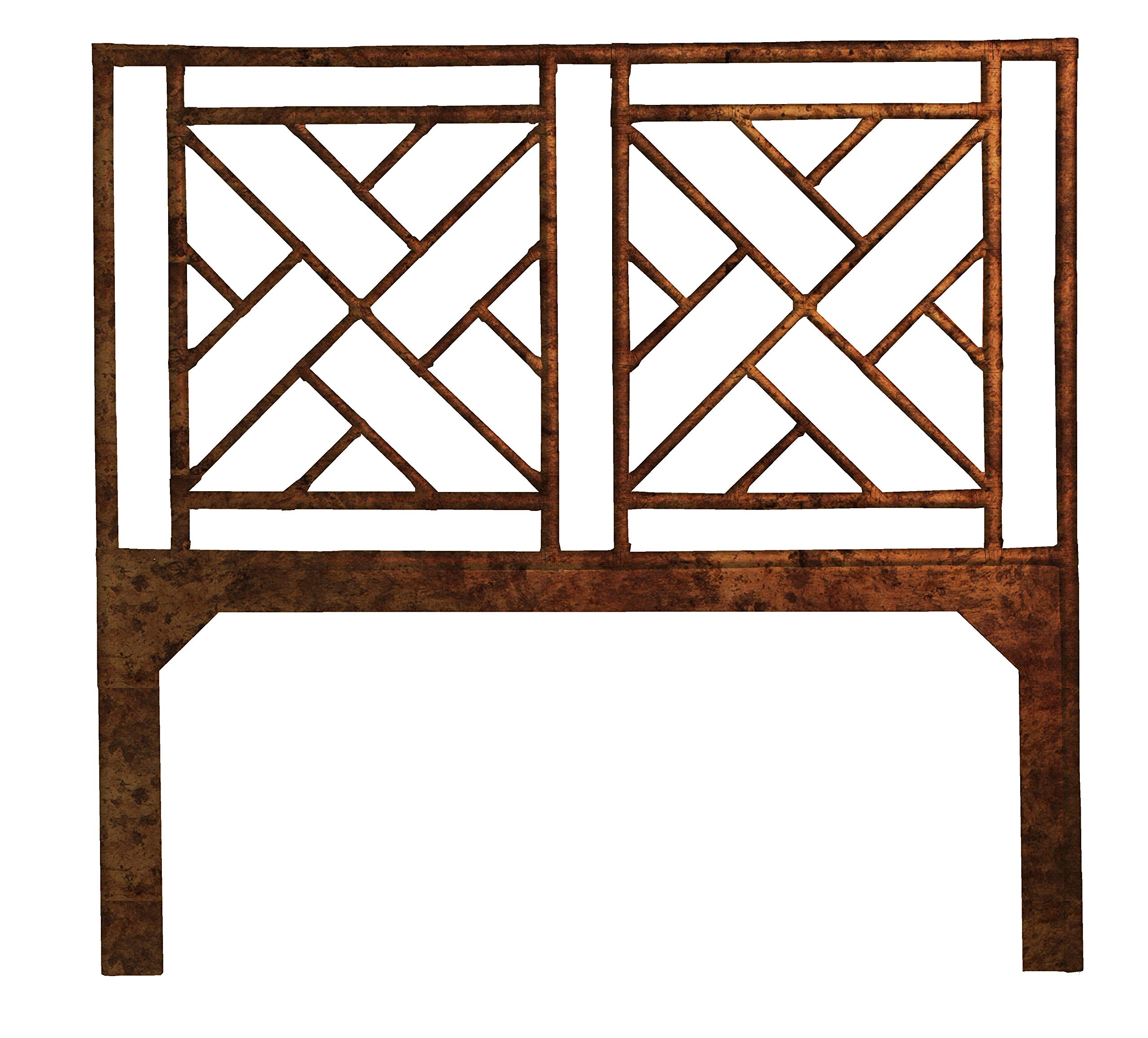 Inspired by David Francis Alden Chippendale Headboard, Queen, Tortoise Shell by Inspired by David Francis