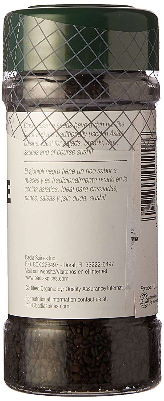 Amazon.com : Badia Black Sesame Seed Organic 2.5 oz : Grocery & Gourmet Food