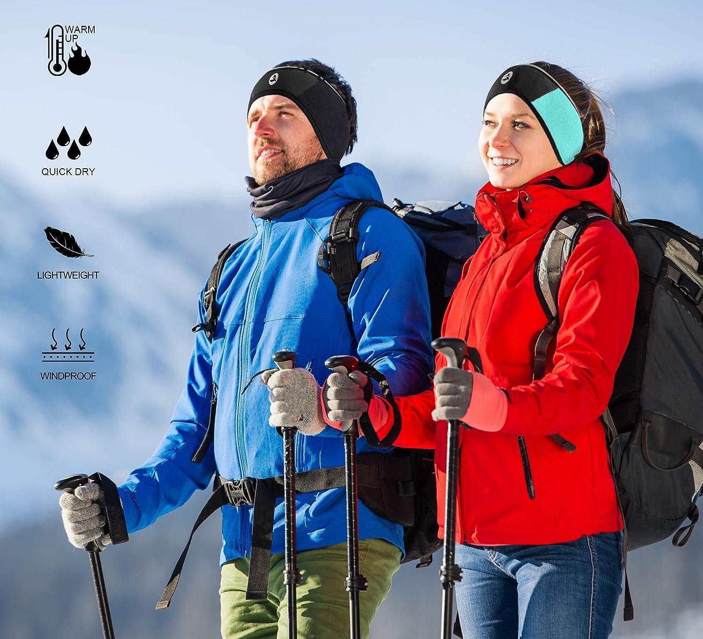 Empirelion 360o Reflektierende Ohrw/ärmer//Muffs Winddichte Thermo-Polar-Fleece-Stirnb/änder 4 St/ück f/ür Damen und Herren