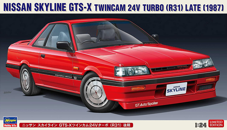 Hasegawa-1//24 Nissan Skyline GTS-X Twincam 24V Turbo Modellino in plastica 620448