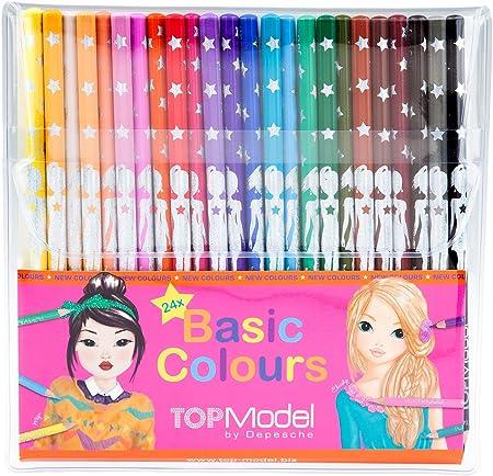 Lápices Set,Diseño: TopModel,24lápices de colores en colores primarios,Tamaño: aprox 19x 18,5x 1