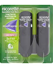 Nicorette Quickmist Mouthspray Duo Pack, 1 mg, Cool Berry (Stop Smoking Aid)