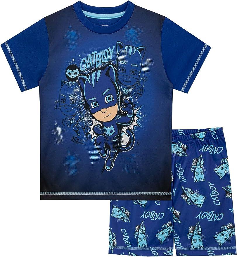 PJ Masks Pijamas de Manga Corta para niños Catboy