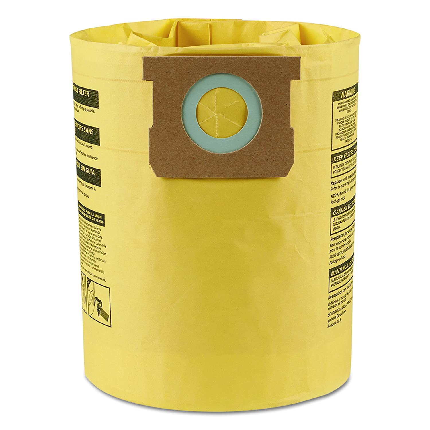 B00002N9E1 Shop-Vac 9067100 Genuine Type H 5-to-8-Gallon High-Efficiency Disposable Collection Filter Bag 2-Pack 81LtqZWX32L