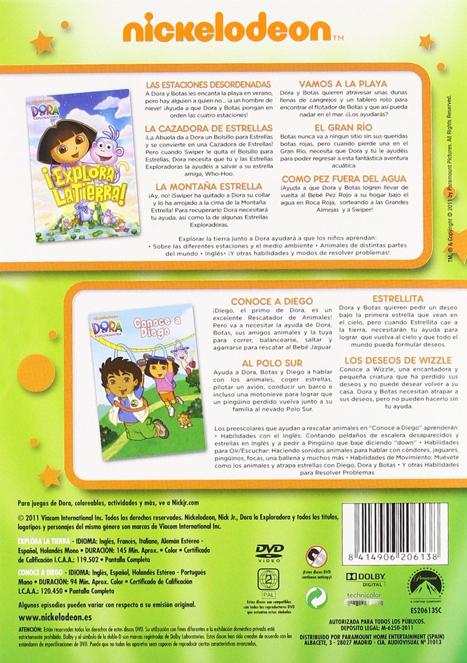 Amazon.com: Dora La Exploradora : Conoce A Diego + Explora La Tierra (Import Movie) (European Format - Zone 2) Gary Con: Movies & TV