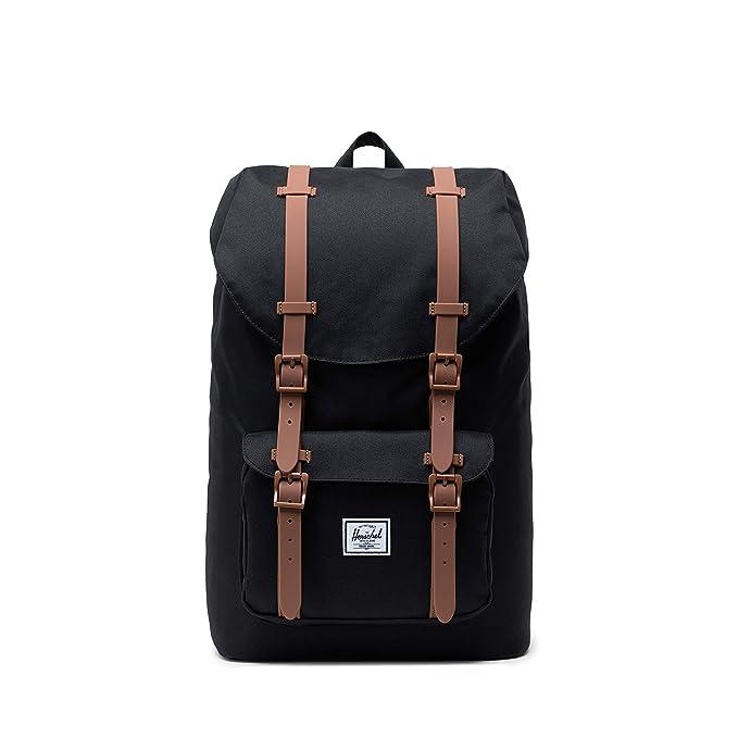 Herschel Mid-Volume 17L Backpack, Black/Saddle Brown, Mid-Volume 17L