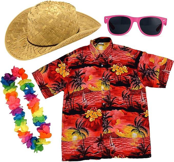Paraguas de Papel para Adultos, Camisa Hawaiana, Accesorio para ...