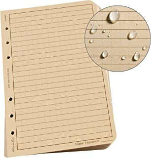 """product image for Rite In The Rain All-Weather Loose Leaf Paper, 4 5/8"""" x 7"""", 32# Tan, Universal Pattern, 100 Sheet Pack (No. 982T), 7 x 4.625 x 0.625"""