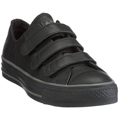 ec412b8133ce Converse All Star All Star Leather 3 Strap Velcro Ox Black 105636 6 ...