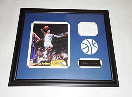 40d01fba1d1 Image Unavailable. Image not available for. Color  Steve Francis autographed  (Index card) Orlando Magic 16x20 frame COA Memorabilia Lane   Promotions