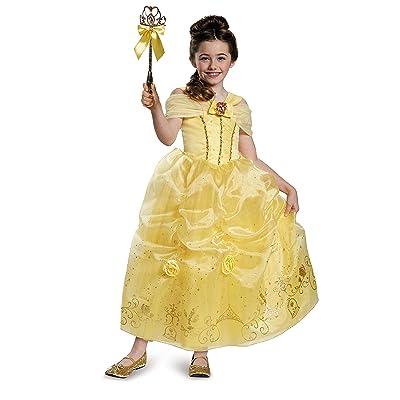 Disney Princess Belle Beauty & the Beast Prestige Girls\' Costume: Toys & Games [5Bkhe2002811]