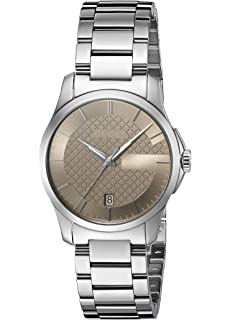 Gucci G-Timelss Quartz Stainless Steel Silver-Toned Womens Watch(Model