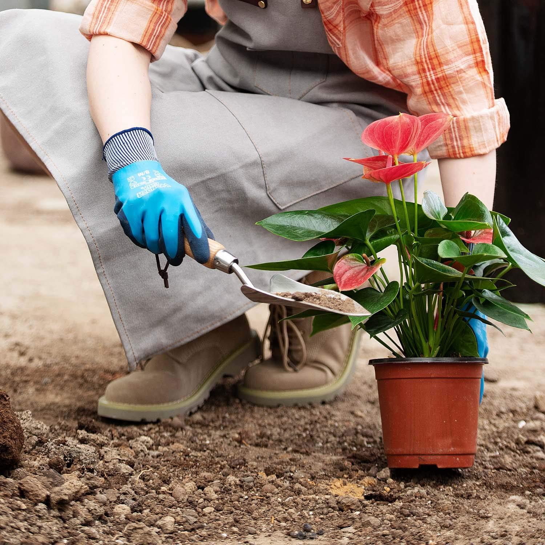 T4U wasserdichte Gartenhandschuhe EN 388 f/ür M/änner und Frauen mit Rutschfester Latex-Schutzbeschichtung Gr/ö/ße L 1 Paar Mehrzweck-Arbeitshandschuhe