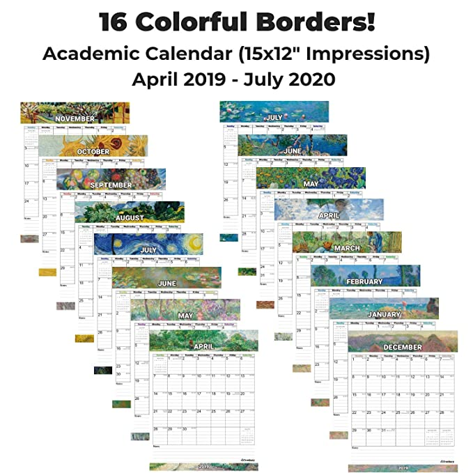 Amazon.com: Cranbury - Calendario de pared académico 2019 ...