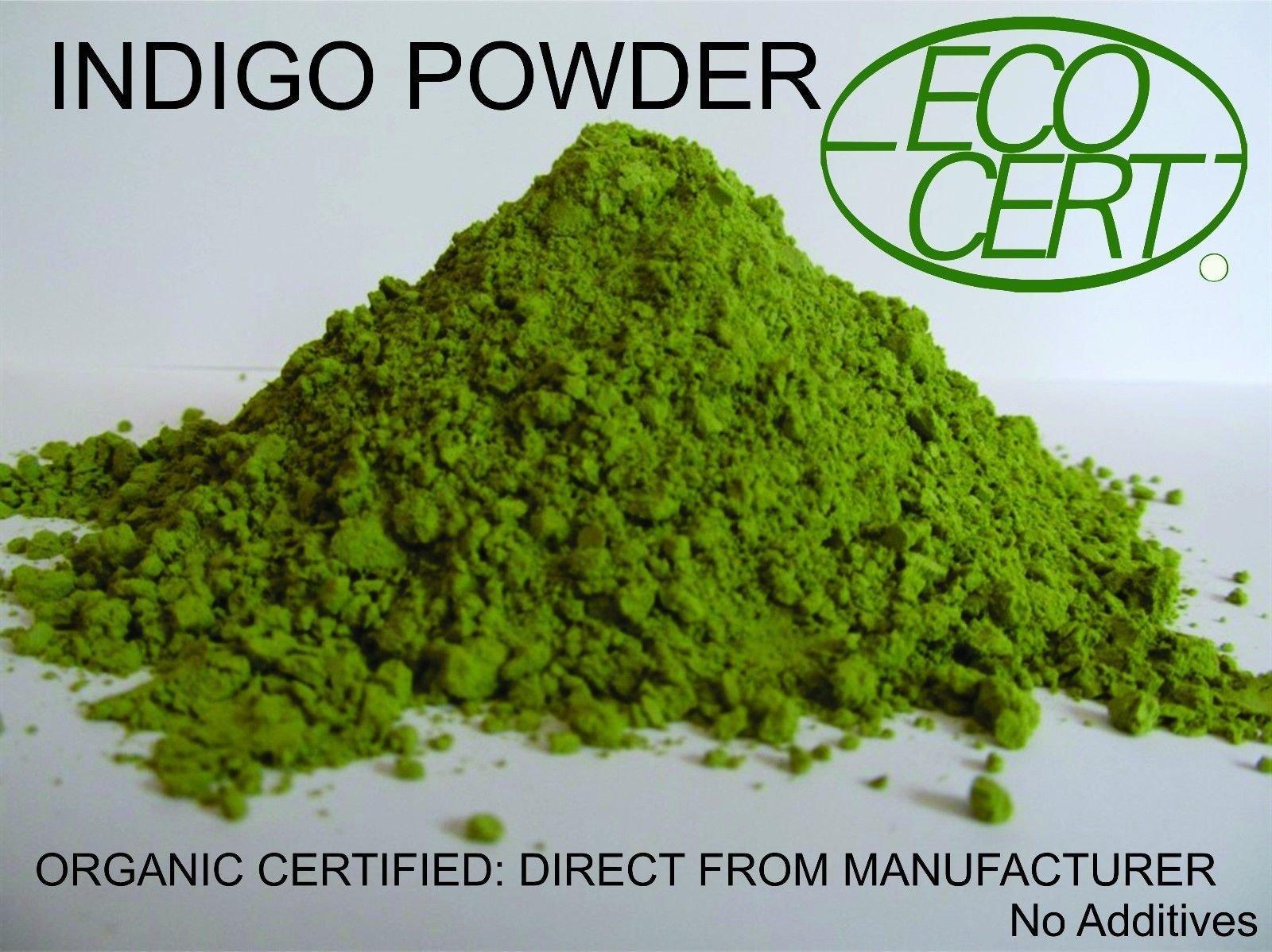 INDIGO POWDER ORGANIC CERTIFIED 500 gms Direct from Manufacturer 2018 Crop Premium