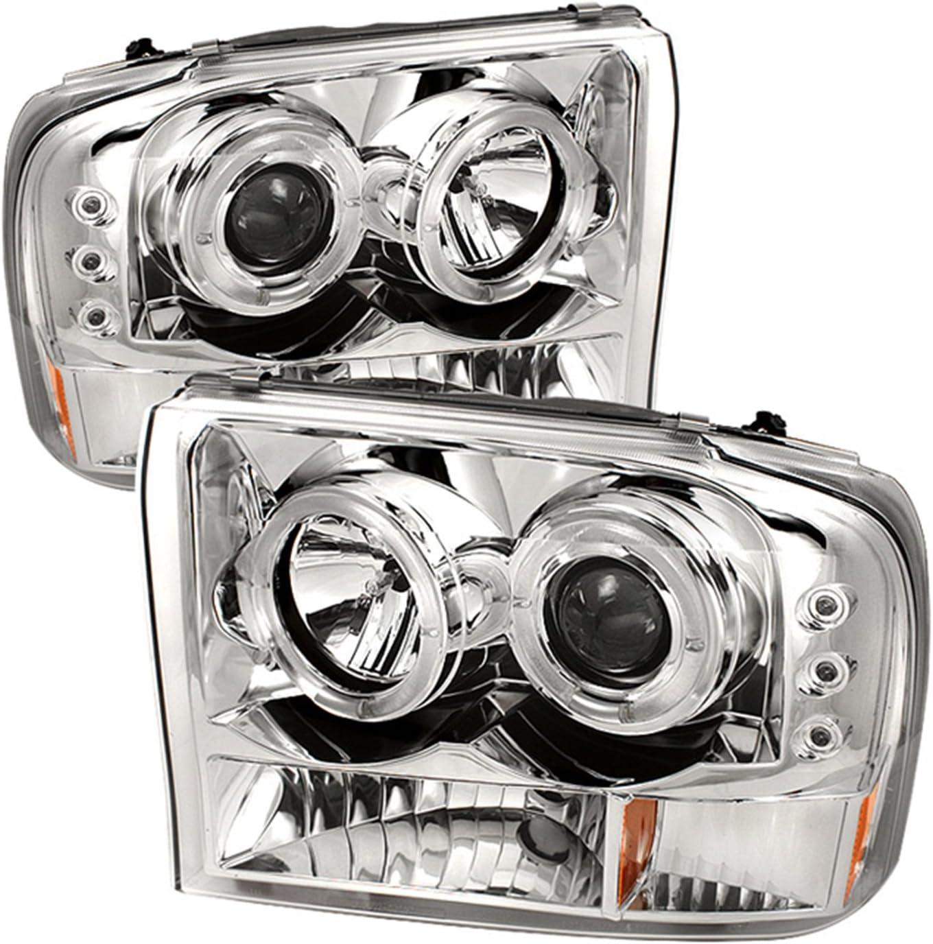 2000-2005 FORD EXCLURSION HALO LED G2 PROJECTOR HEADLIGHTS LIGHTBAR BLACK