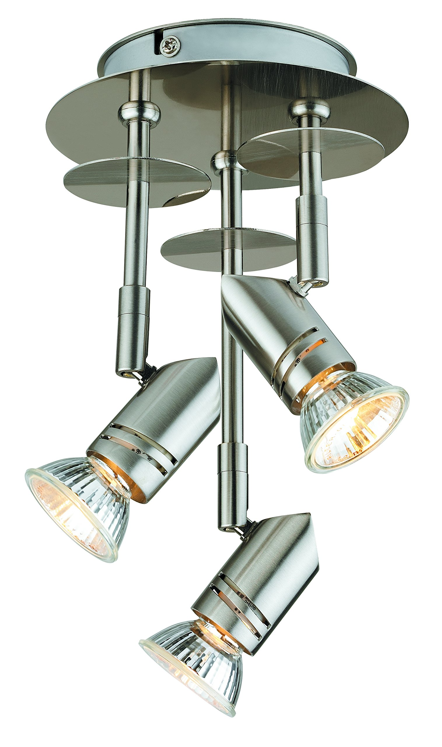 Catalina 19210-000 Three Light Fixed Canopy in Brushed Nickel Finish