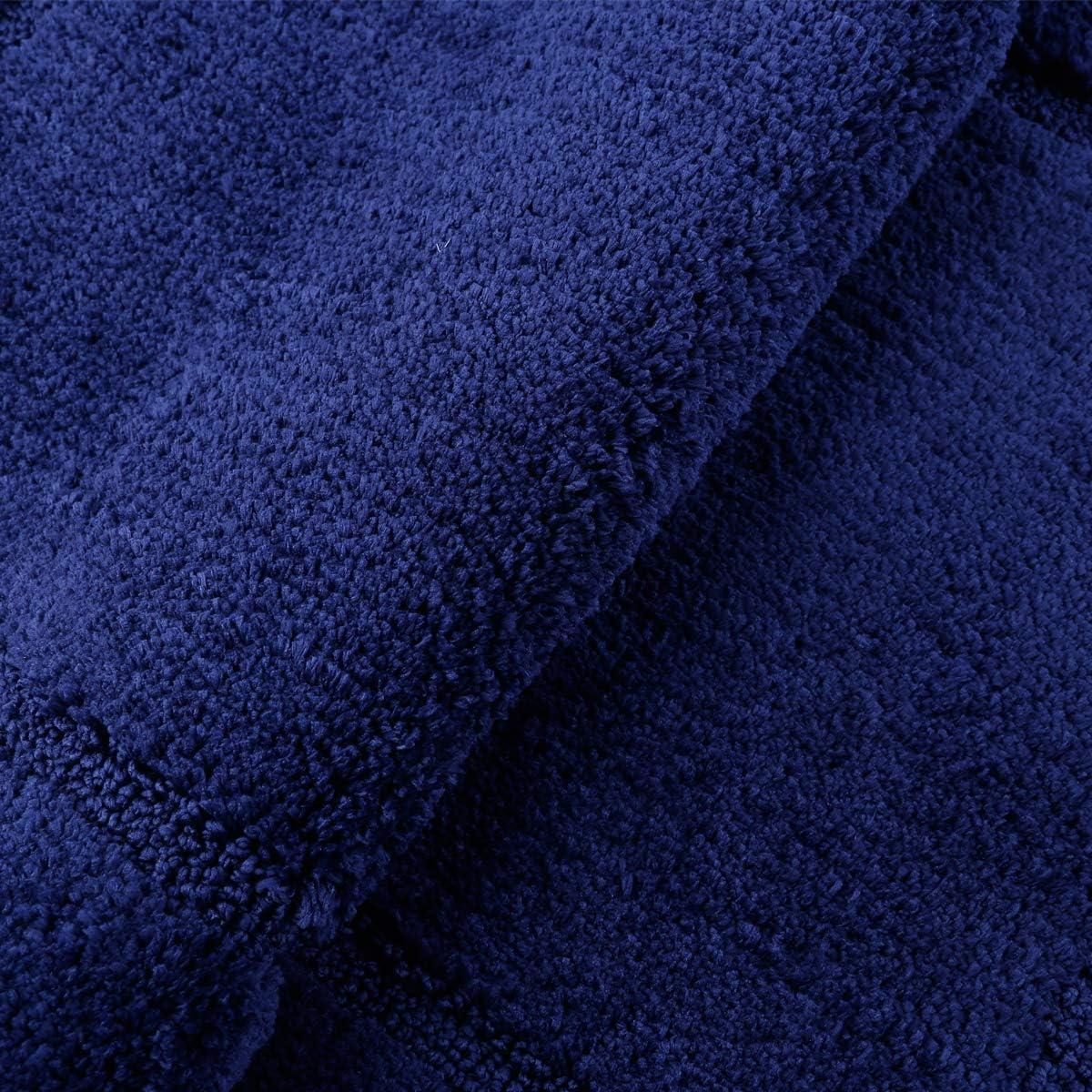 Beige, 53 x 86 cm + 50 x 50 cm Saugf/ähiges Badteppich rutschfeste Waschbare Badematten und WC Vorleger Badvorleger Pauwer Microfaser Weiches Badematten Set 2 teilige