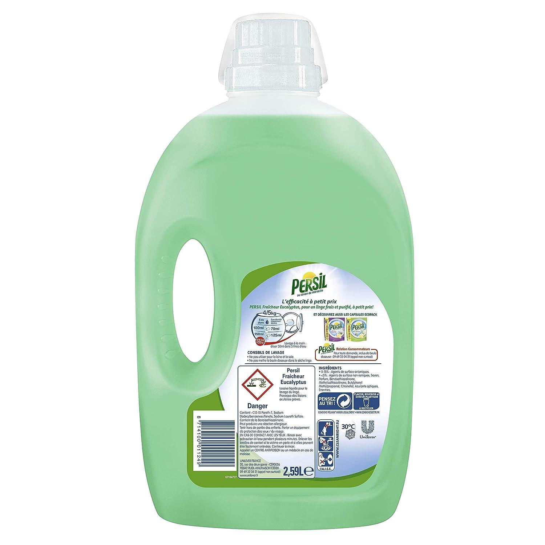 Líquido detergente para lavadora Fraicheur Eucalyptus, 2,59 L (37 ...