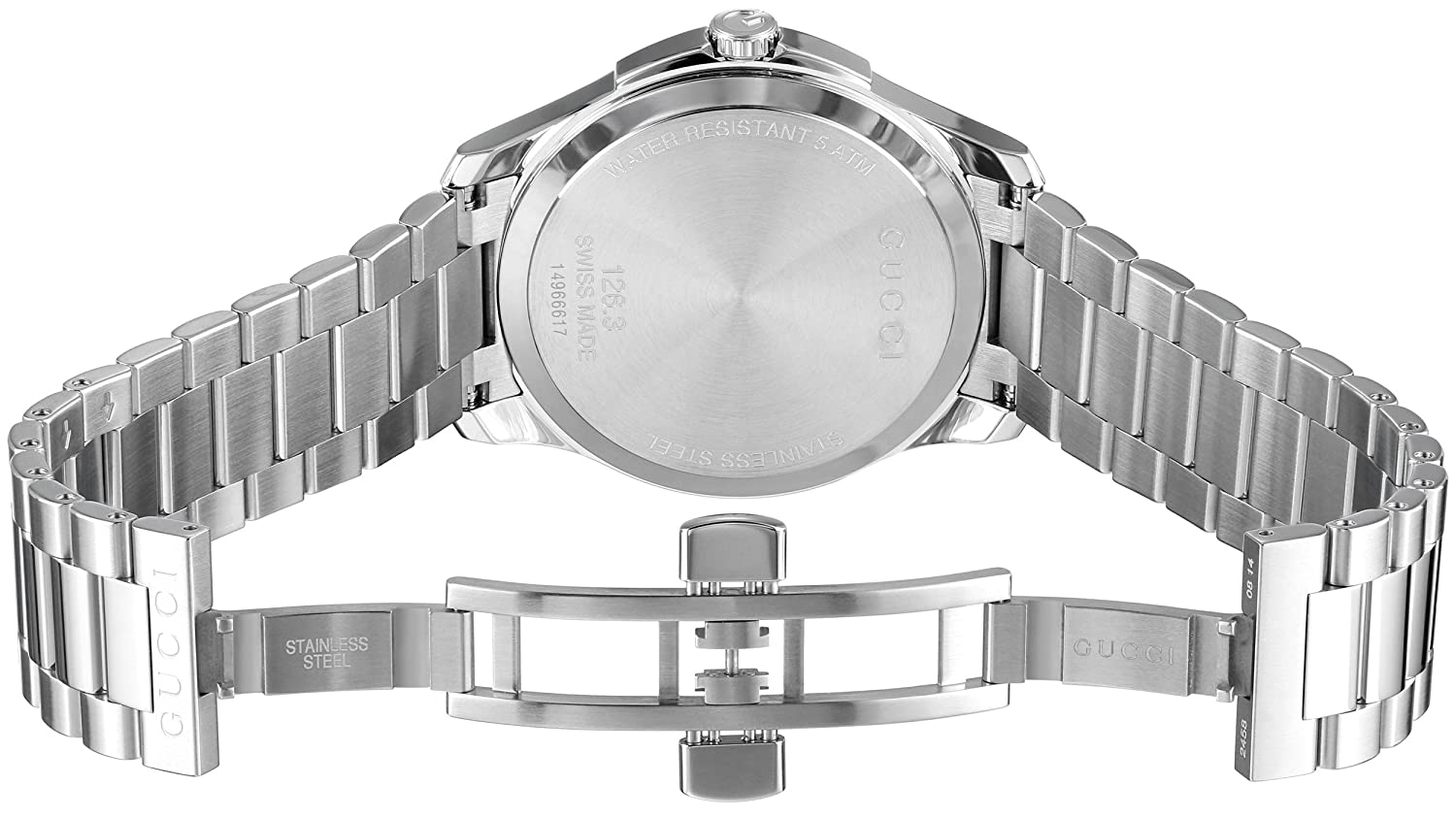 Amazon.com: Gucci G-Timeless Stainless Steel Bracelet Unisex Watch(Model:YA126316): Watches