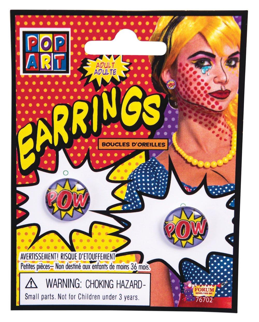 Forum Novelties Pop Art Pow Earrings 76702