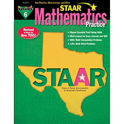 Newmark Learning Grade 6 Staar Mathematics Practice Aid 6: Toys & Games