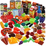 Liberty Imports 150 Piece Deluxe Pretend Play Food Toy Tasty Treats Plastic Cooking and Grocery Shopping Assortment Set
