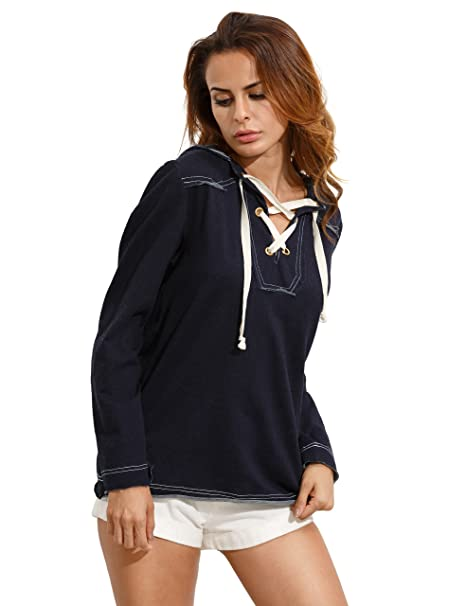 Romwe - Sudadera con capucha - chaqueta guateada - para mujer azul azul marino Medium: Amazon.es: Ropa y accesorios