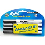 EXPO Original Dry Erase Markers, Fine Point, Black, 4-Count