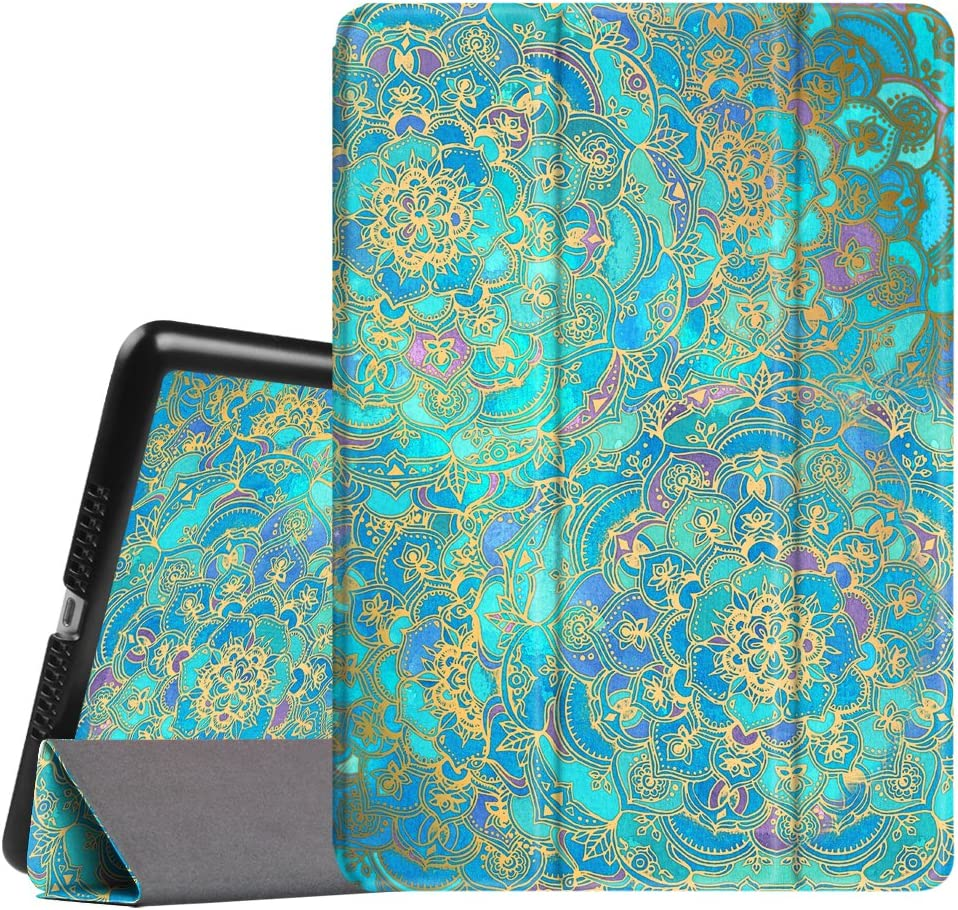 Fintie Slimshell Case for iPad Mini 3/2/1 - Lightweight Smart Stand Cover with Premium PU Leather Back Protector for iPad Mini 1/Mini 2/Mini 3 (Auto Wake/Sleep), Shades of Blue