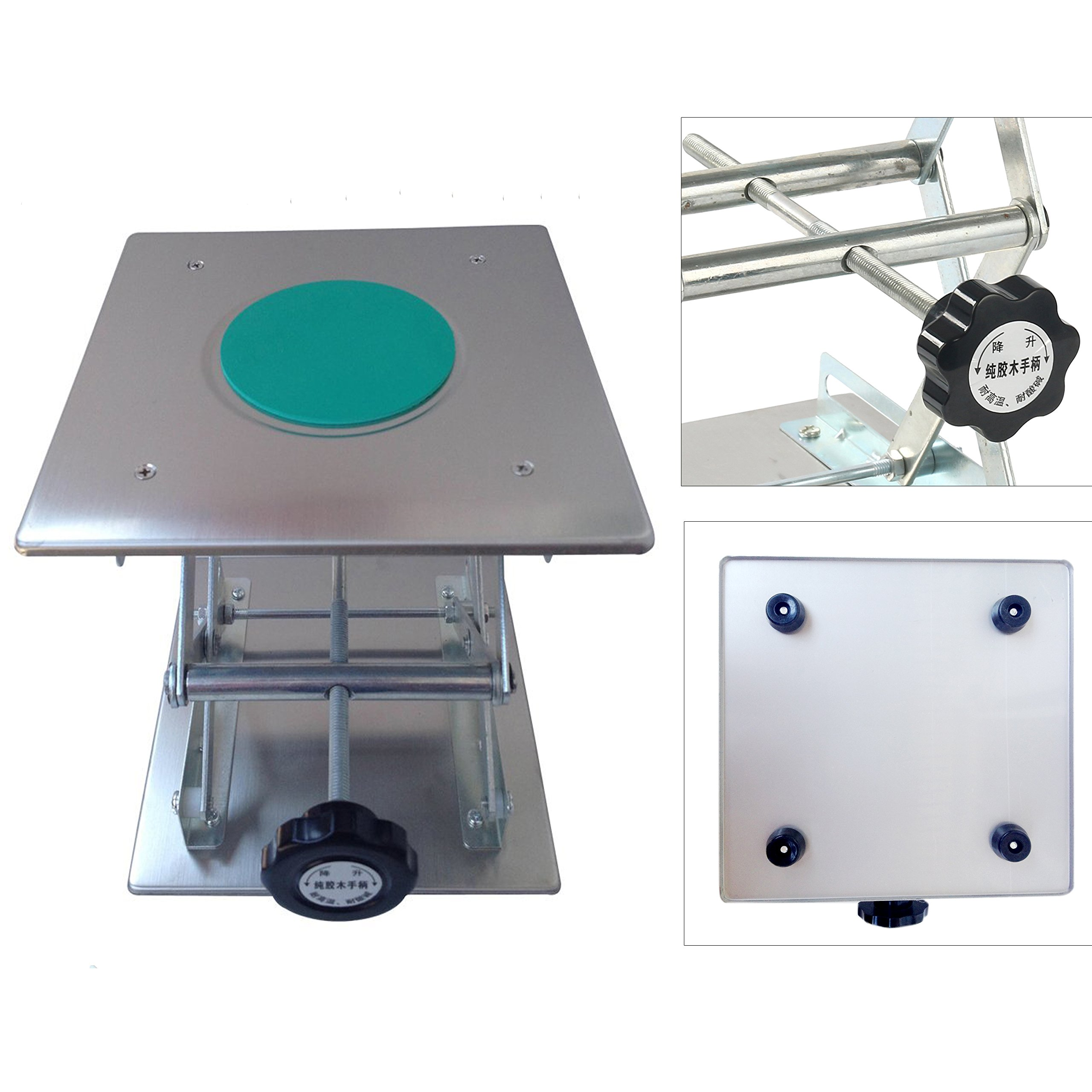 Yaetek Plate 8x8''; Overall Height 10''; Lab Jack Scissor Stand Platform LAB