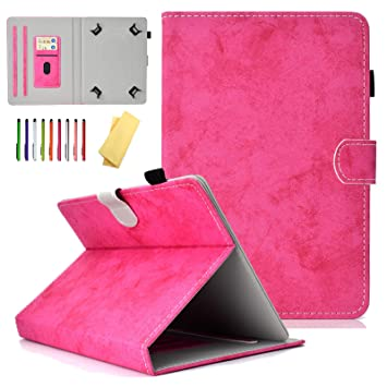 Dteck 7 Inch Universal Tablet Wallet Case for Samsung Galaxy Tab// kindle fire 7.0 2015 2017// Kindle Oasis E-reader//Huawei Mediapad//Google and More 6.5-7.5 inch Tablet Eiffel Tower